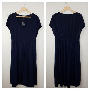 NWT 143 Story | Navy Blue Midi Dress with Pockets